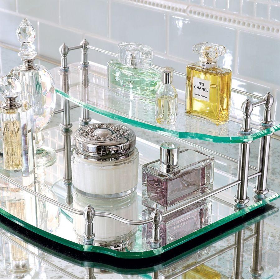 vanity tray bathroom pinterest vanity tray perfume tray and rh pinterest com Bathroom Glass Vanity Trays Trays for Vanity Bathroom Sink