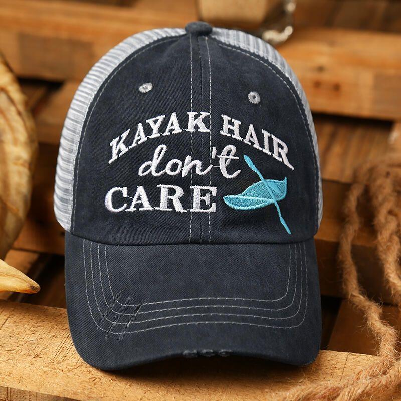 Kayak Hair Don T Care Mesh Criss Cross Baseball Cap Bellelily Baseball Cap Criss Cross