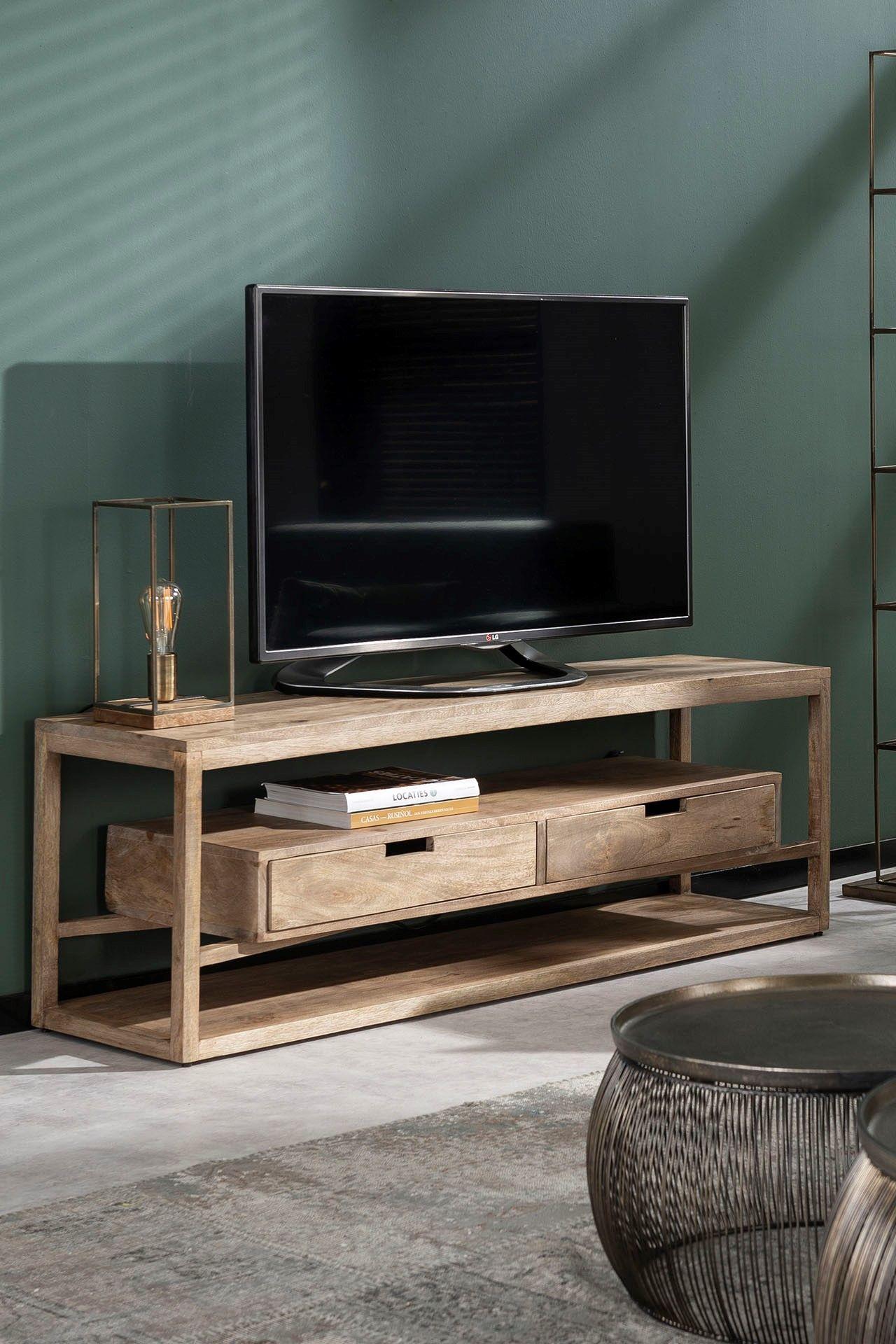 meuble tv de salon en bois massif 2