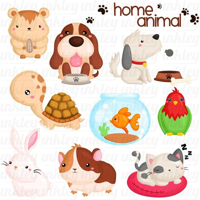 Home Pet Animal Clipart Dog And Cat Clip Art Cute Animal Etsy Animal Clipart Free Cute Animal Clipart Animal Clipart