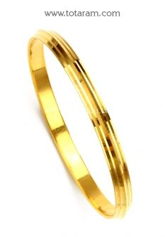 Buy 22K Gold Sikh Kada Sikh Kara Mens Gold Bangle MGBL004