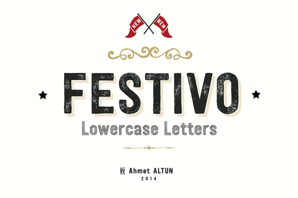 Check out Festivo Lowercase 84%Off by aatype on Creative Market