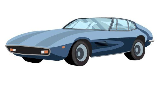 Classic Cars Clipart Lamborghini Delorean Cadillac Deville