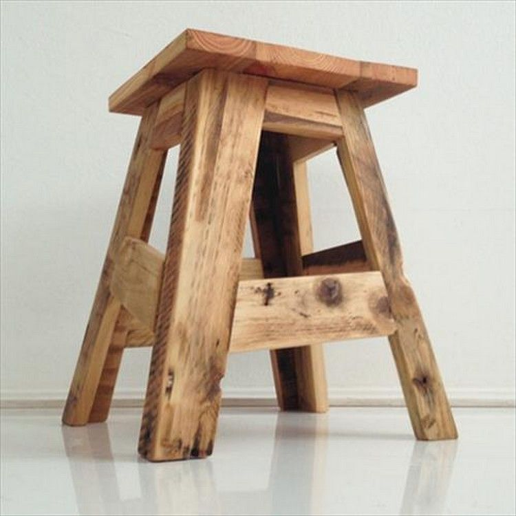Outstanding Wooden Pallet Stool Plans Wood Pallet Furniture Pallet Creativecarmelina Interior Chair Design Creativecarmelinacom