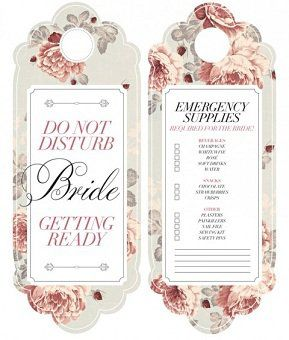 Door Hanger  Bridal Suite Ideas    Bridal Suite And