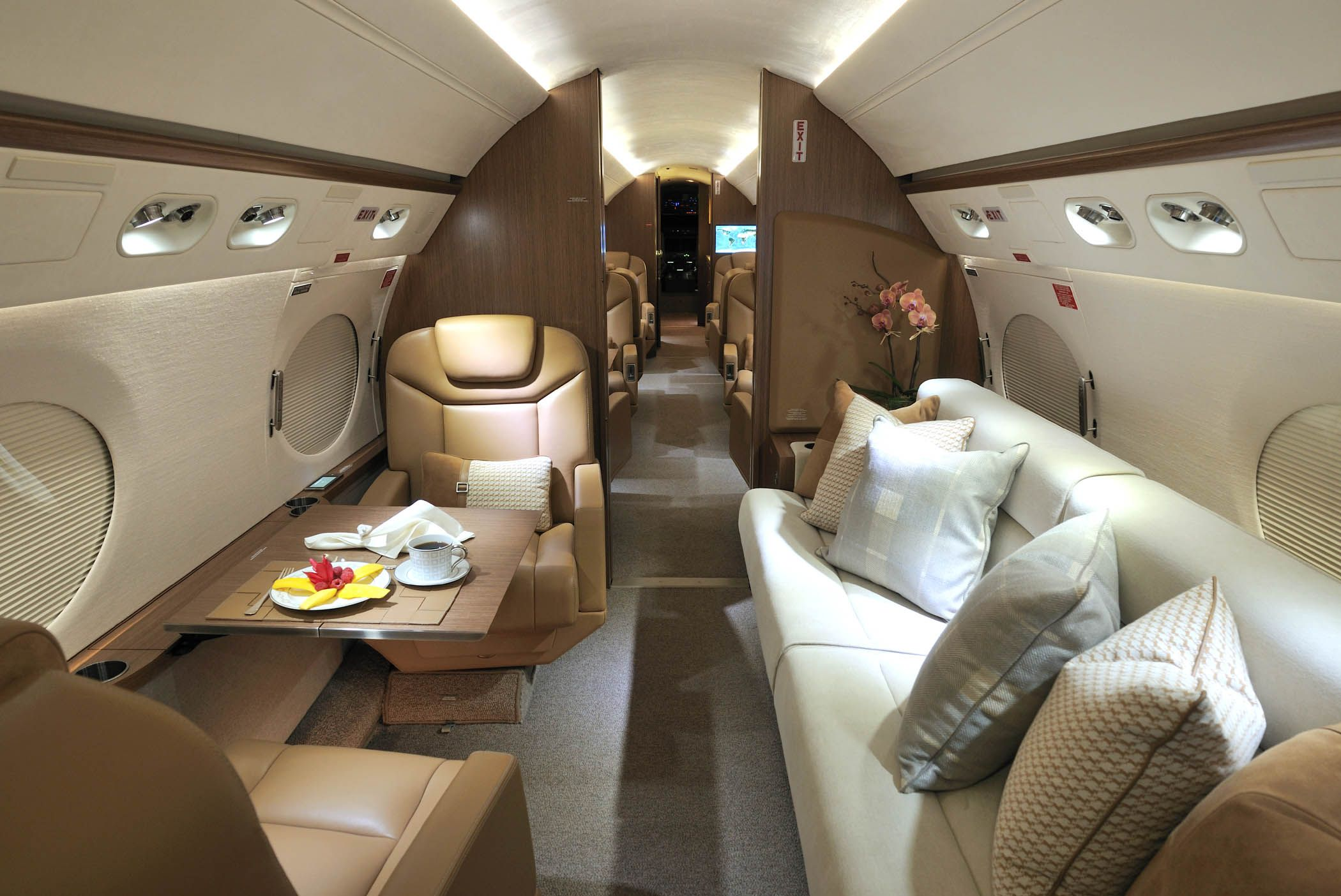 G550 Completion by International Jet Interiors in NY