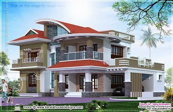 5 Bedroom Luxury House In Kasaragod Kerala House Design Beautiful House Plans Luxury House Plans