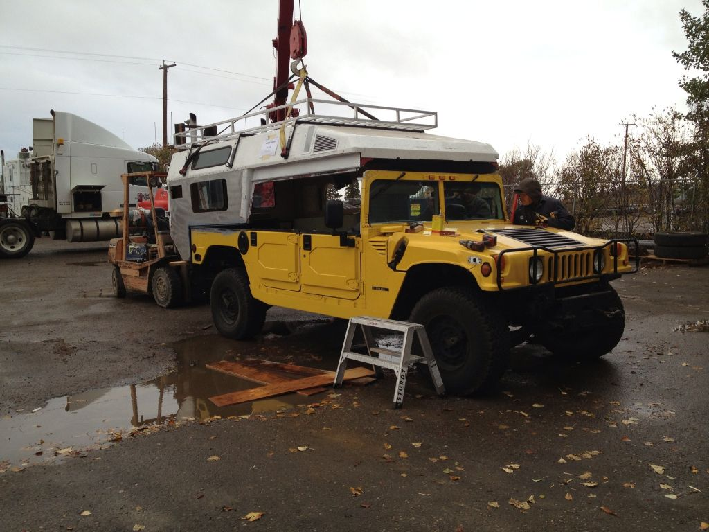 Hummer w modified ambulance body