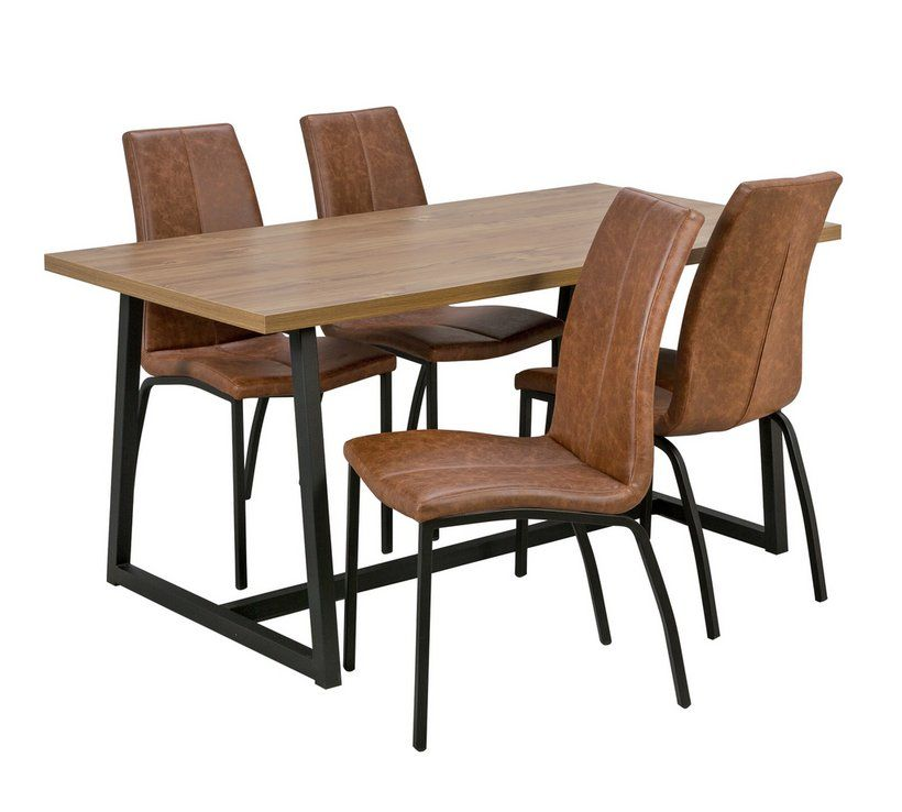 Buy Argos Home Nomad Oak Effect Dining Table & 4 Milo