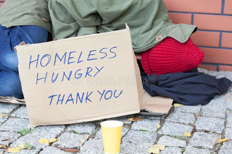 Homeless Hungry Poor Man Sleeping On A Street Sponsored Paid Affiliate Hungry Street Homeless People With Schizophrenia Living With Schizophrenia