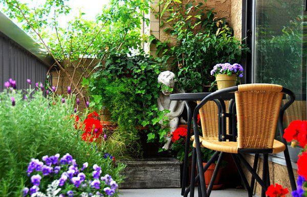 Terrassengestaltung mit Pflanzen - wunderschöne Beispiele und - gartengestaltung beispiele kleine garten