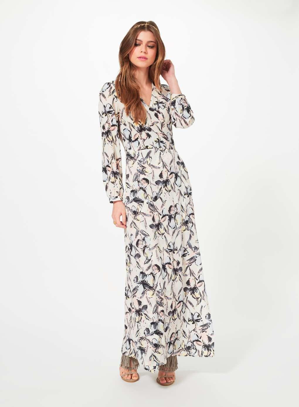 Miss selfridge cape maxi dress