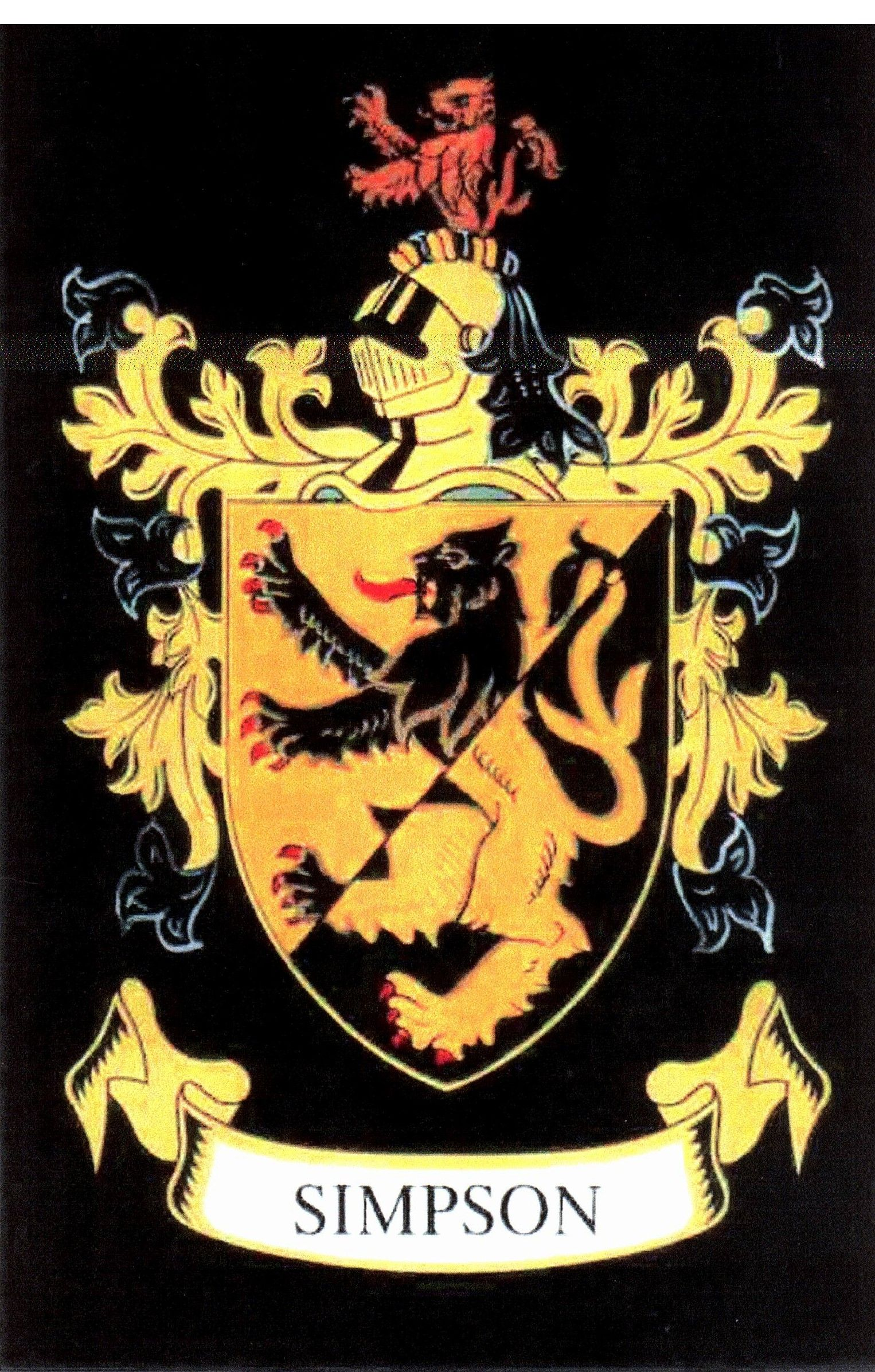 Simpson crest simpson family crest my family symbols pinterest simpson crest simpson family crest buycottarizona Image collections