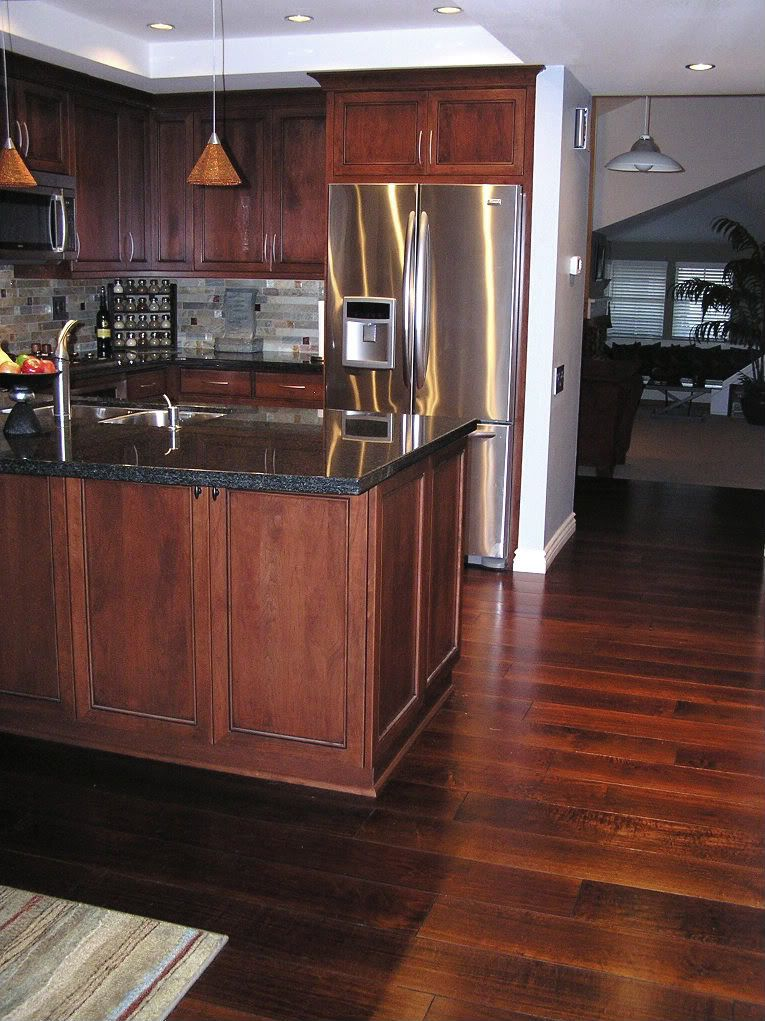 Hardwood floors in kitchen dark hardwood floor colors in for Wood floors in kitchen