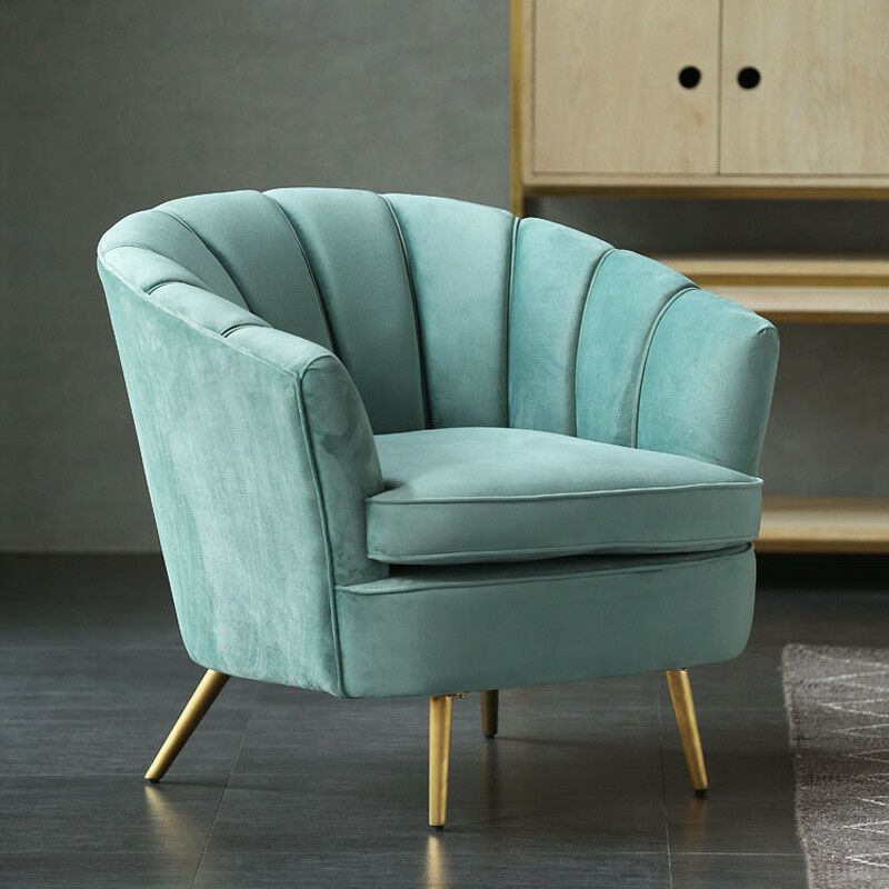 Incredible Details About Tiffany Blue Velvet Occasional Queen Anne Wing Evergreenethics Interior Chair Design Evergreenethicsorg
