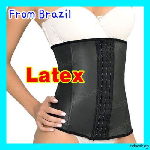 Waist Trainer cincher Belt Workout Latex Rubber brazilian Body Shapewear Girdle