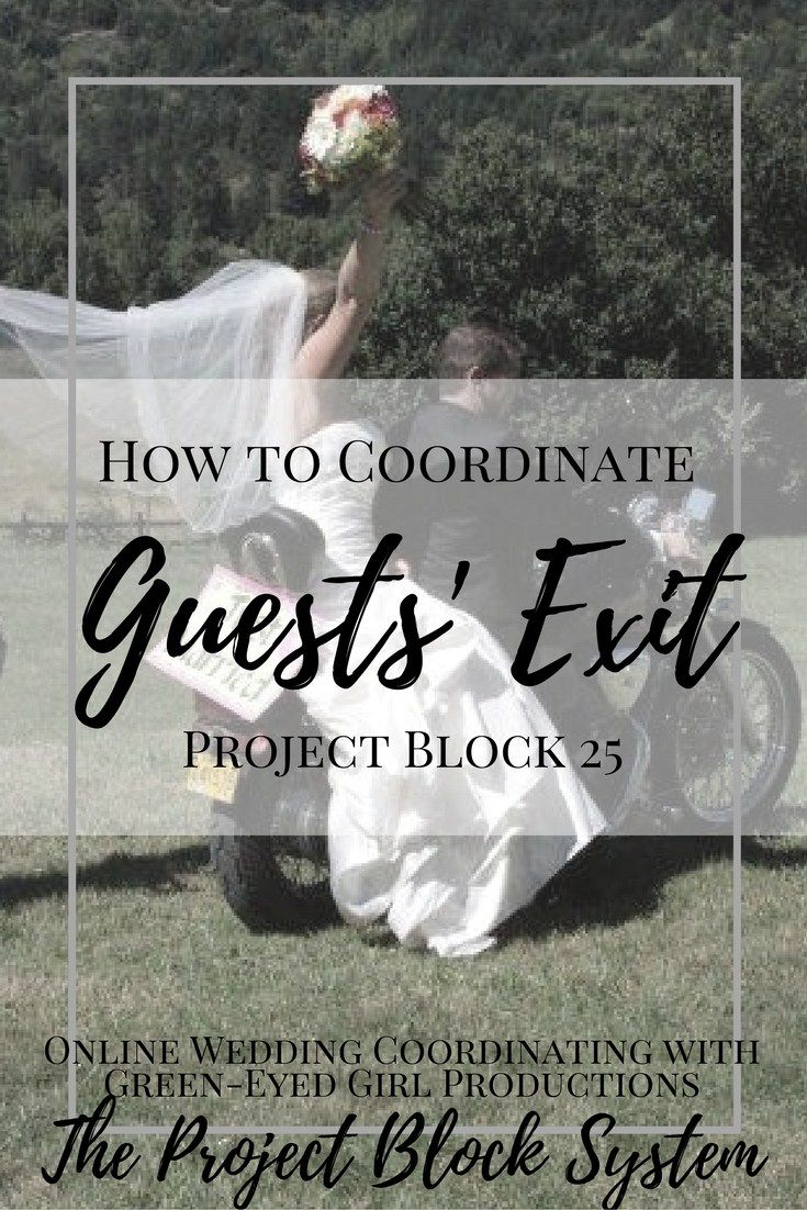 How To Coordinate Wedding Guest Exiting How Do Guests Leave A