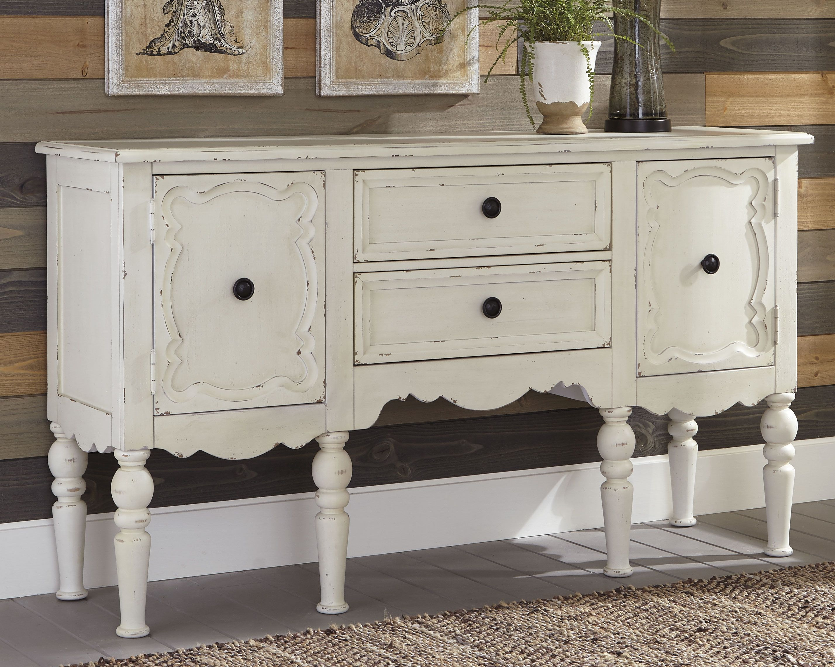 Best Loumont Accent Cabinet Antique White White Furniture 640 x 480
