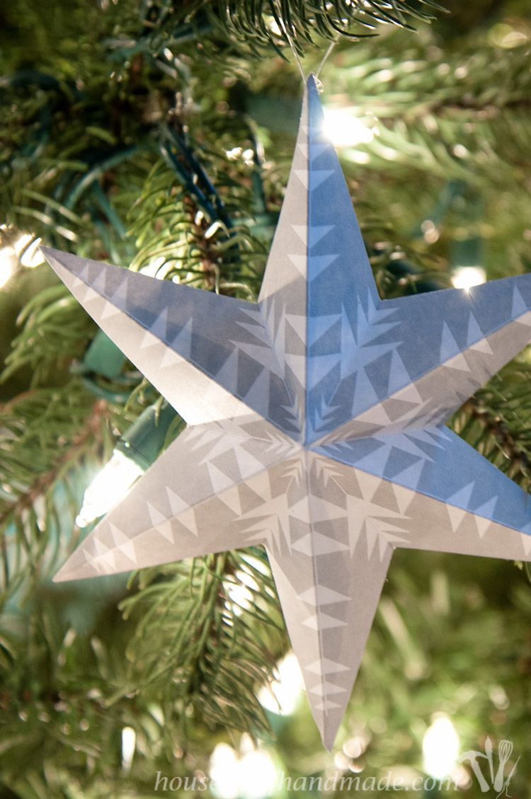 Printable 3d Snowflake Star Ornaments Christmas Ornament