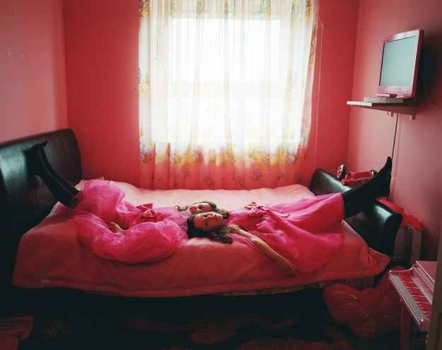 Photographer Kirsty Mackay thinks society pushes pink too much on young girls.