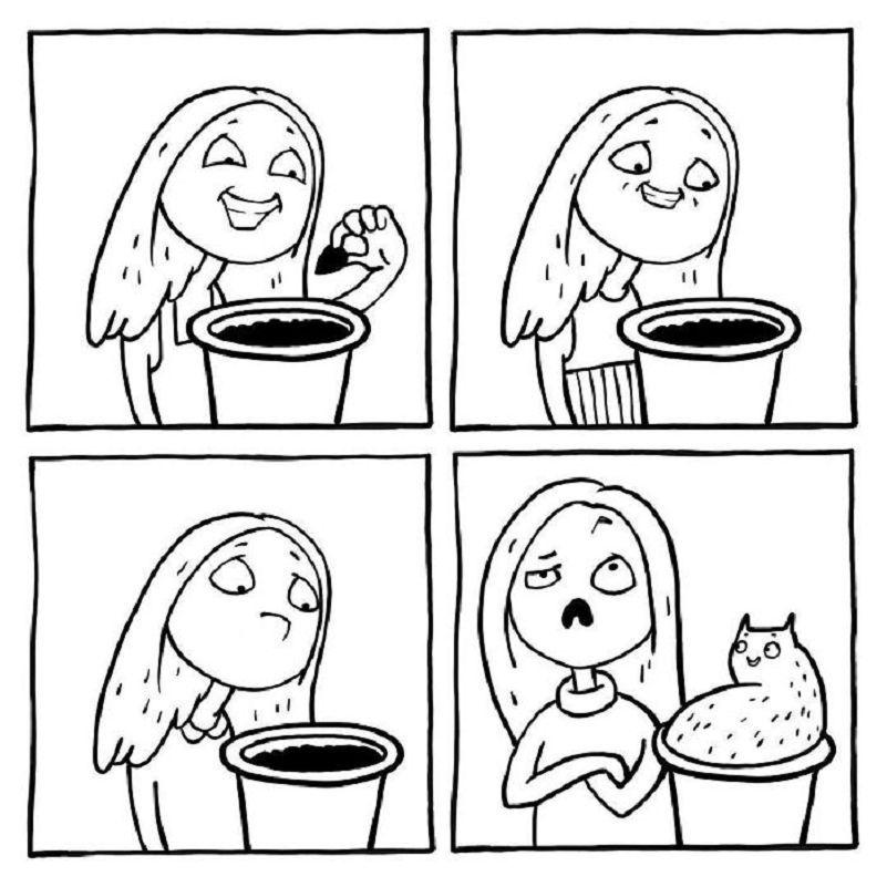 Комикс рисунки легкие, картинки снеговиками
