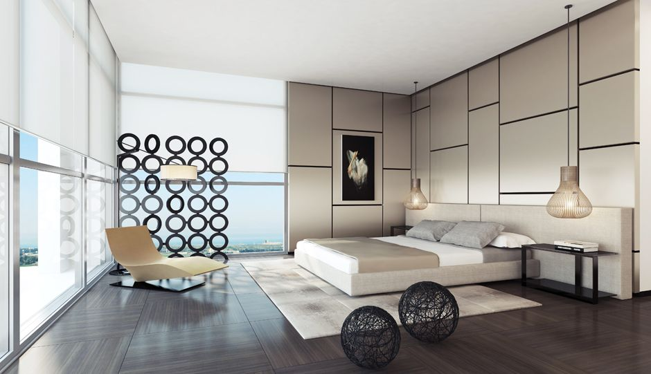 creative bedroom design with cute tone - http://www.interiorzy