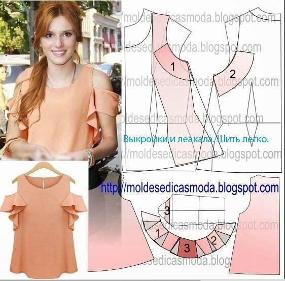 Pin de Sol Albornoz en Blusas | Pinterest | Patrones, Blusas y Costura