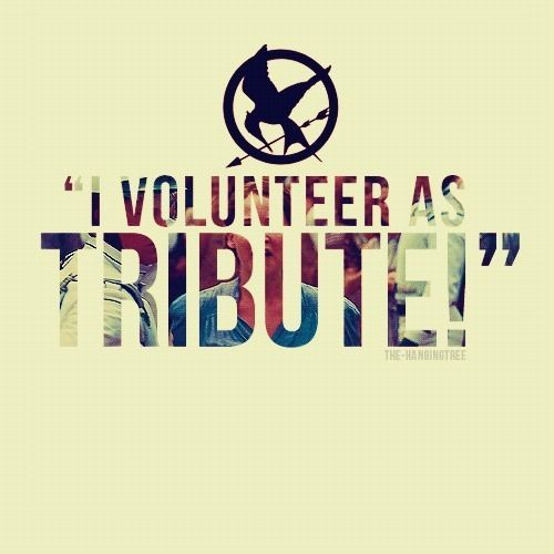 """Someone should go to starbucks and when they ask for your name say Primrose Everden and then when they call it out someone else should say """"I VOLUNTEER AS TRIBUTE ! """""""