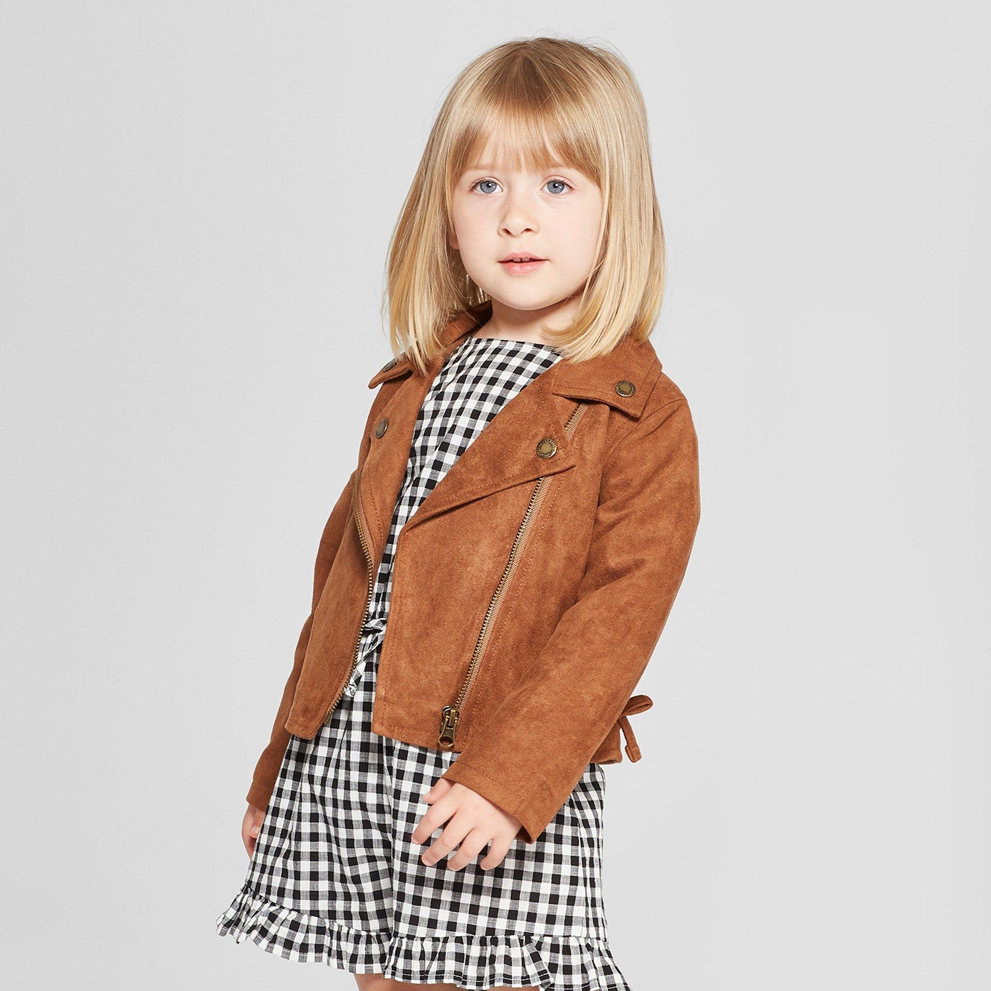 0ba063b9c Toddler Girls  Moto Jacket - Genuine Kids from OshKosh Brown 18M in ...