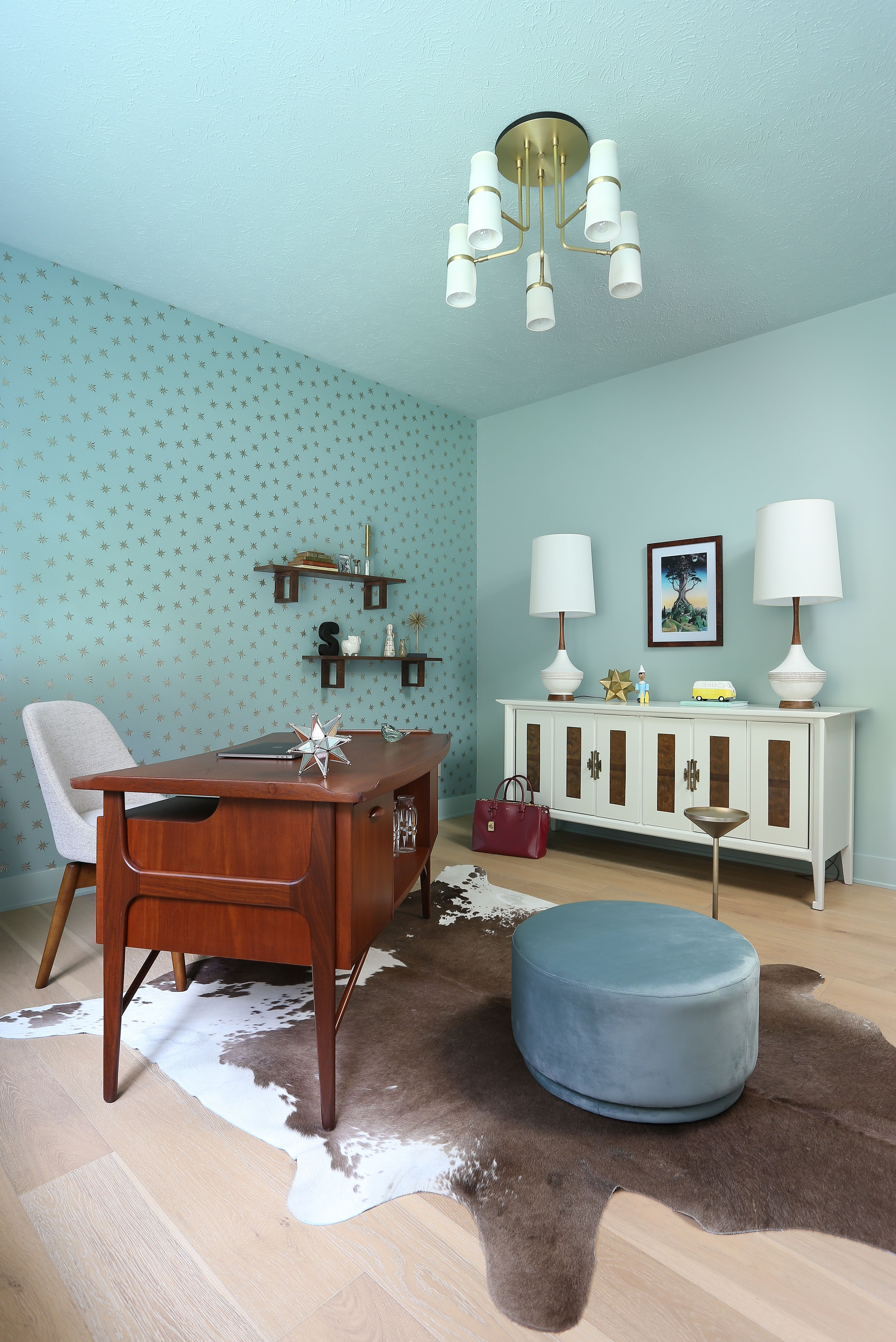 Your space should reflect you, like this home office bold