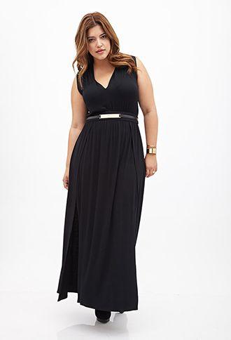 M-Slit Maxi Dress | FOREVER21 PLUS - 2000138687