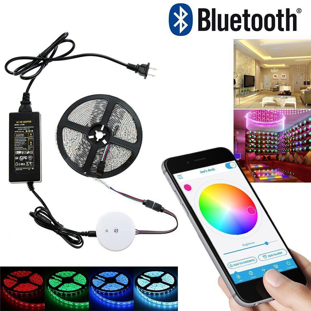 Us 24 13 Feb Only Diy Smart Bluetooth Rgb App Led Controller 5m Rgb Led Strip Light Set 12v 5a Power Adapt Led Strip Lighting Rgb Led Strip Lights Led Strip