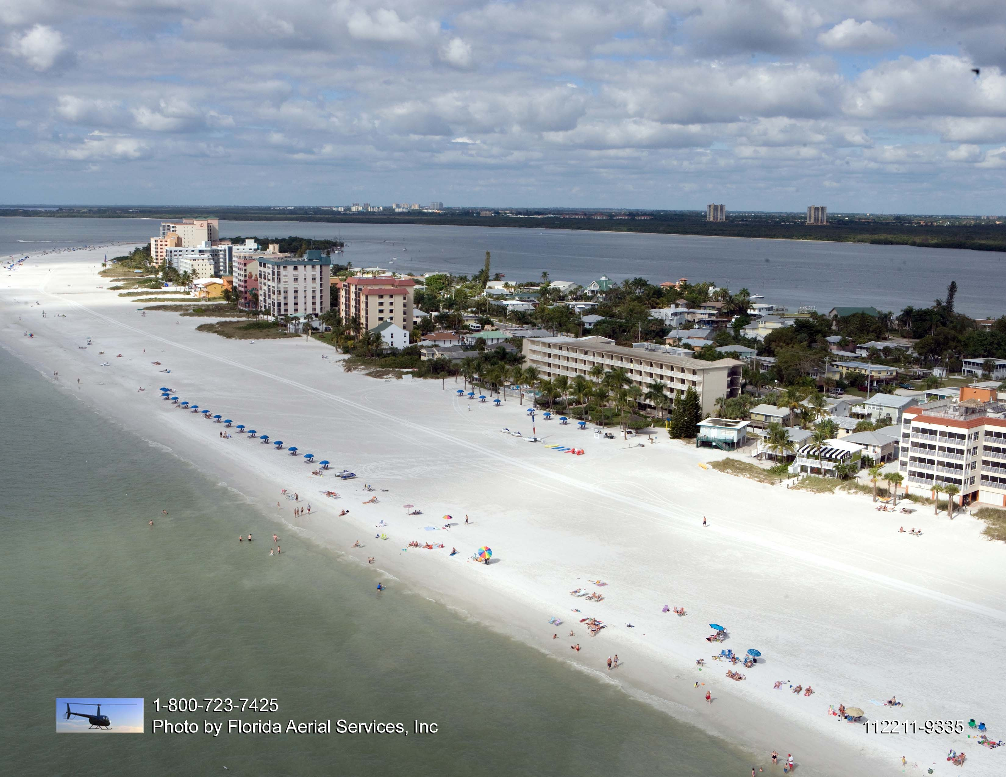 Aerial View Of Best Western Plus Beach Resort On The North End Fort Myers Florida