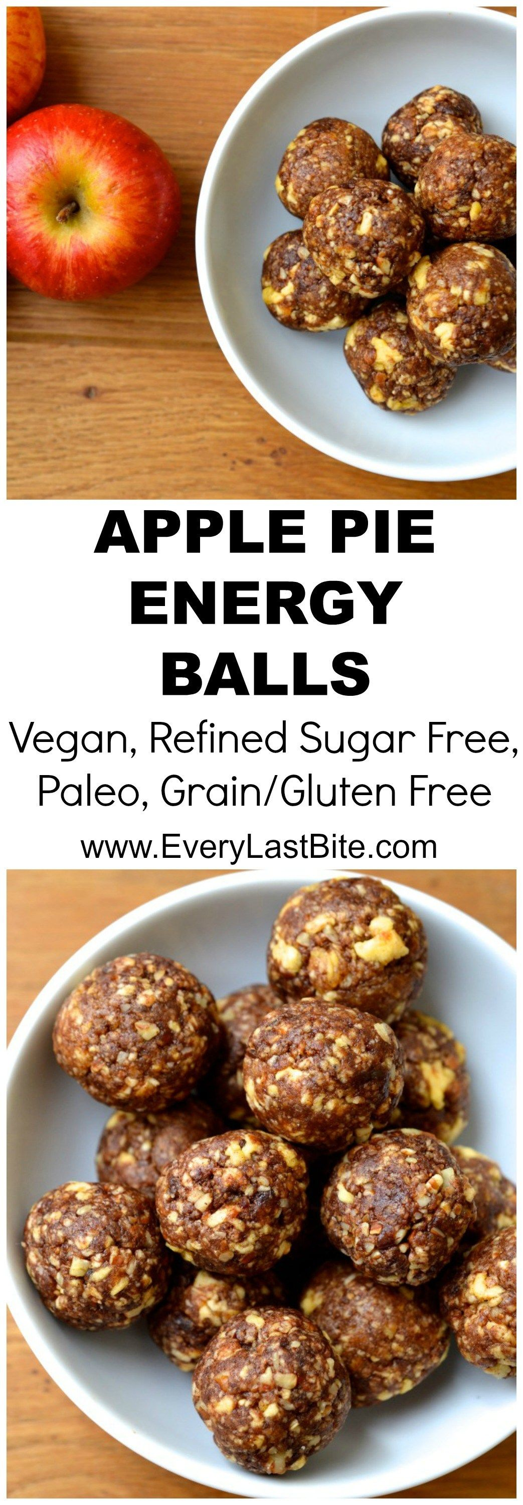 Apple Pie Energy Balls | Every Last Bite