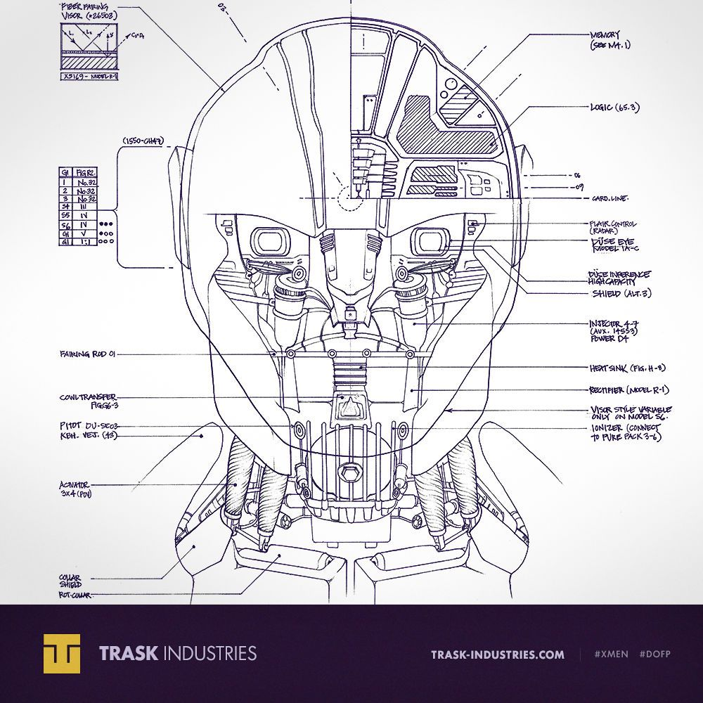 Trask industries sentinel blueprint days of future past straight trask industries sentinel blueprint days of future past straight from trask industries the blueprints for malvernweather Choice Image