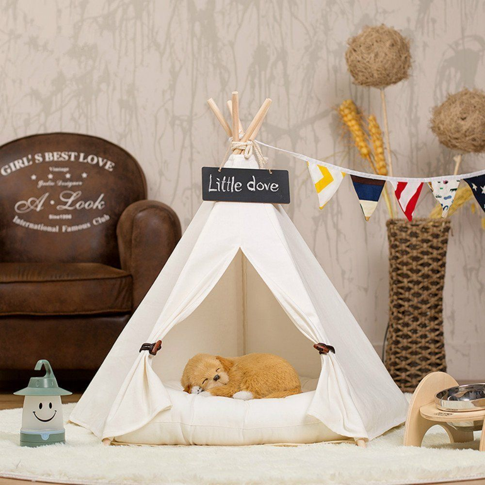 Amazon.com  little dove Pet Teepee Dog Pet Supplies Tent Dog Bed Cat Mat & Amazon.com : little dove Pet Teepee Dog Pet Supplies Tent Dog Bed ...
