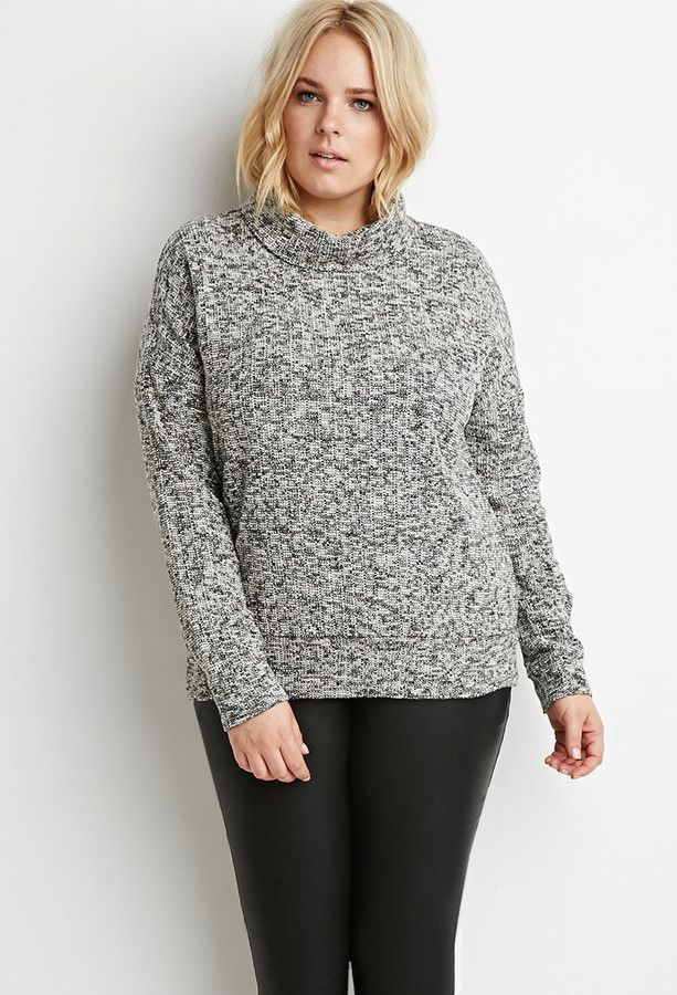 2290 Forever 21 Plus Size Drop Sleeved Turtleneck Sweater Plus