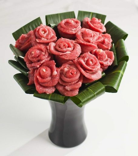 sod the flowers this valentine's day. i want a steak bouquet, Ideas