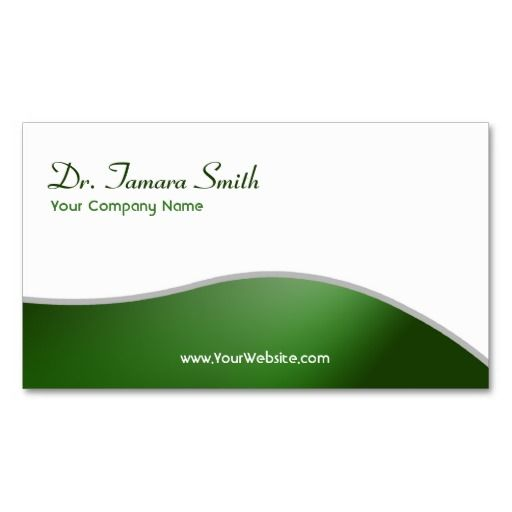 Green And White Dental Medical Business Card