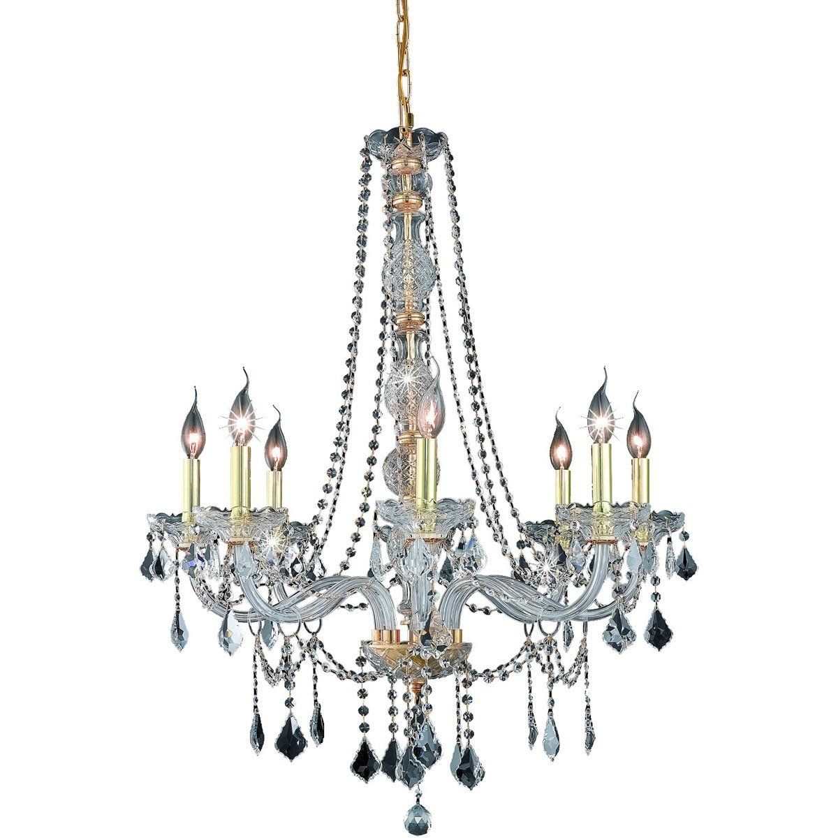 Verona 28 crystal chandelier with 8 lights gold finish and clear verona 28 verona 28 crystal chandelier arubaitofo Gallery