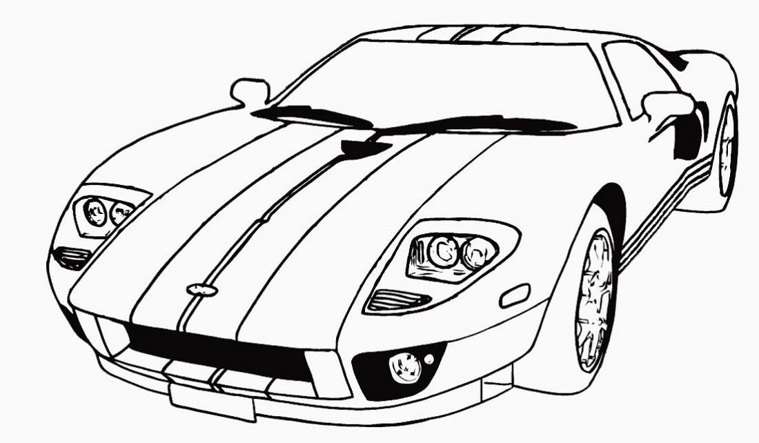 Free Coloring Pages Cars Amazing Design