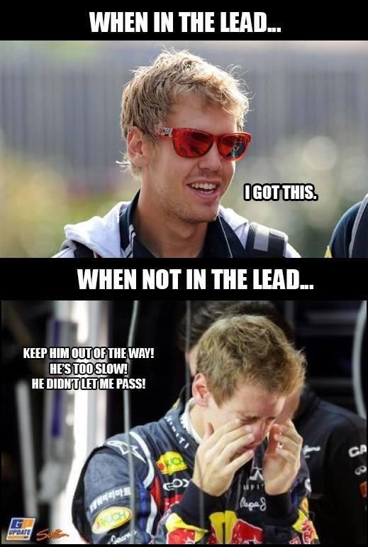 Sebastianvettel So True So Disappointed After Hearing Him Whine It S Not Fair Formula 1 Car Jokes Memes