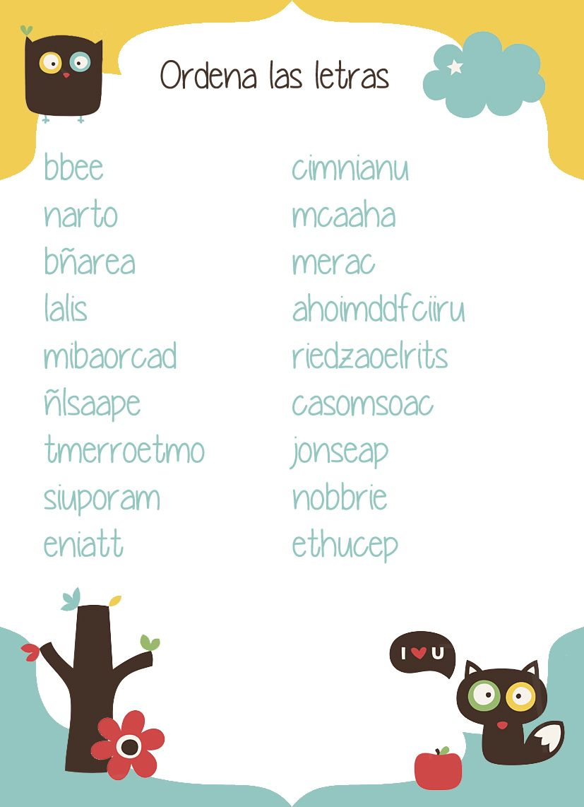 Juego Babyshower Ordena Las Letras Babyshower S Play Baby Shower