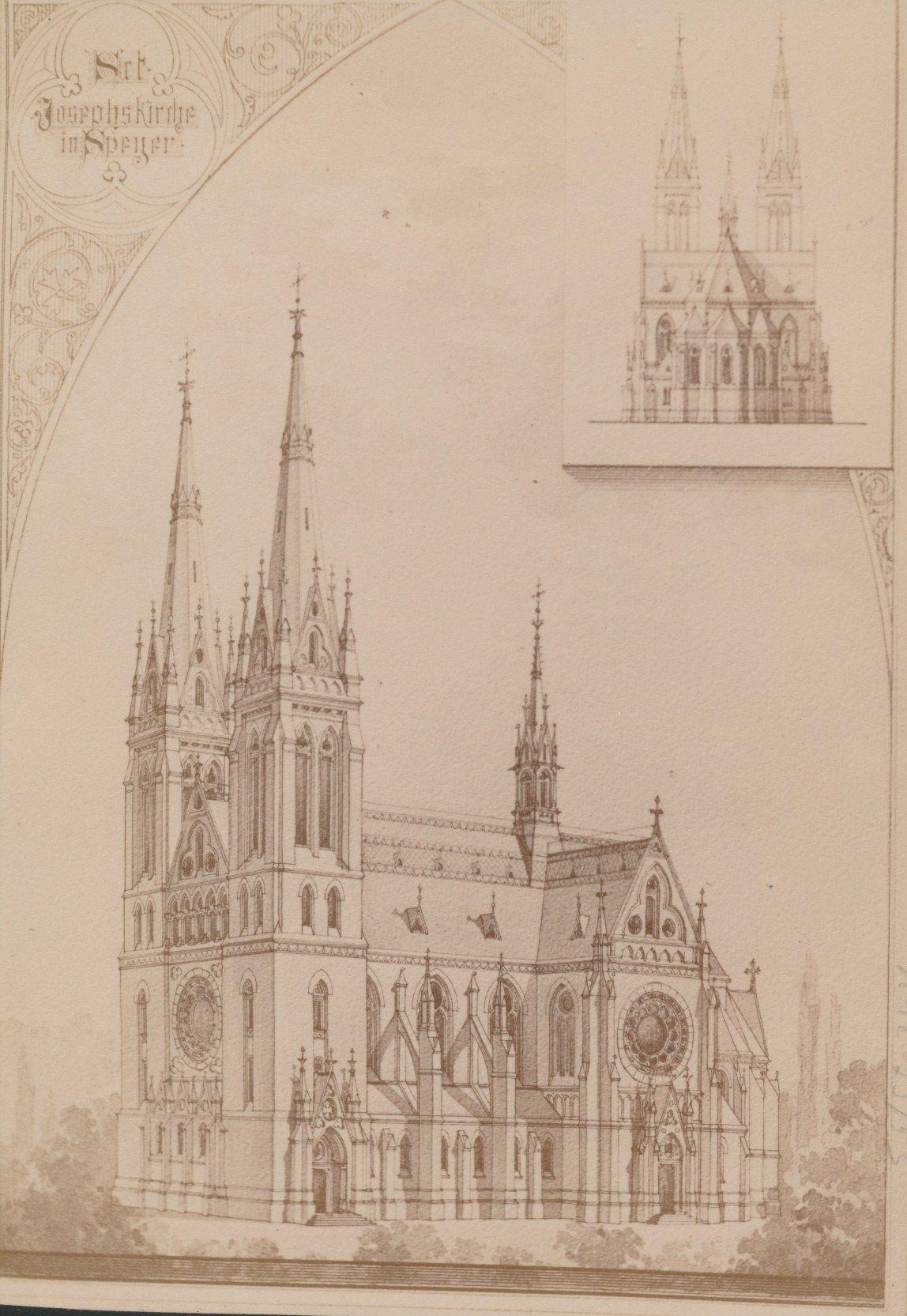 Dies war der neogotische Entwurf für den Neubau der St