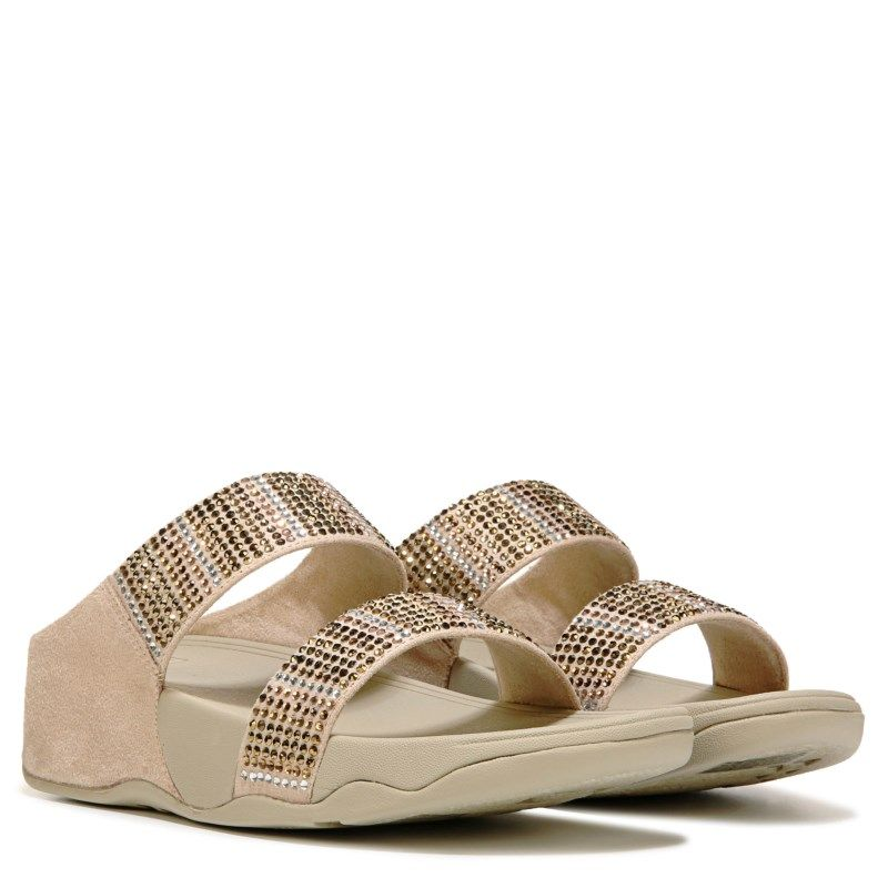 40378649bc1a6 Fitflop Women s Flare Strobe Slide Sandals (Gold)