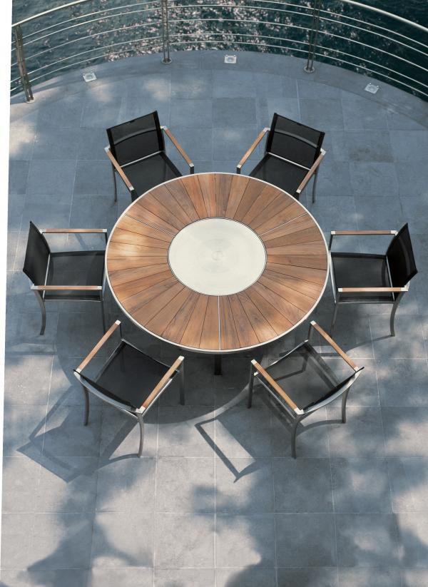 Glamour Table De Jardin Blanche Et Table Ronde Design Extensible Et ...