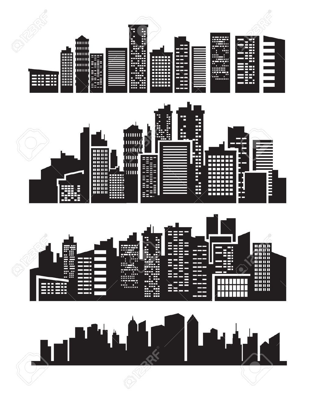 Image result for isometric city skyline vector black and ...