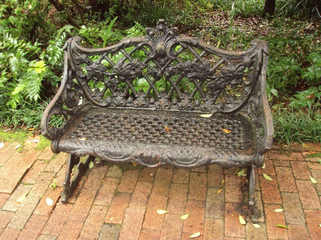 Sensational Antique Wrought Iron Bench In Charleston Want This Photos Ibusinesslaw Wood Chair Design Ideas Ibusinesslaworg