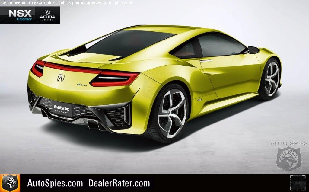 Which Color Is The Best Acura Goes Wild With New Nsx Facebook Colorizer Autospies Auto News Nsx New Nsx Acura