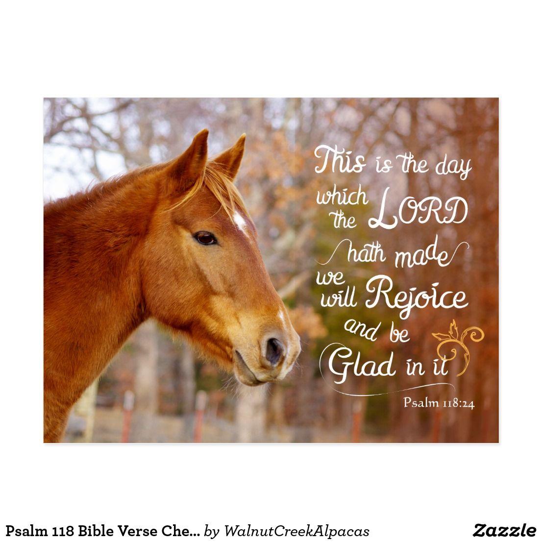 Psalm 118 Bible Verse Chestnut Horse Postcards ...